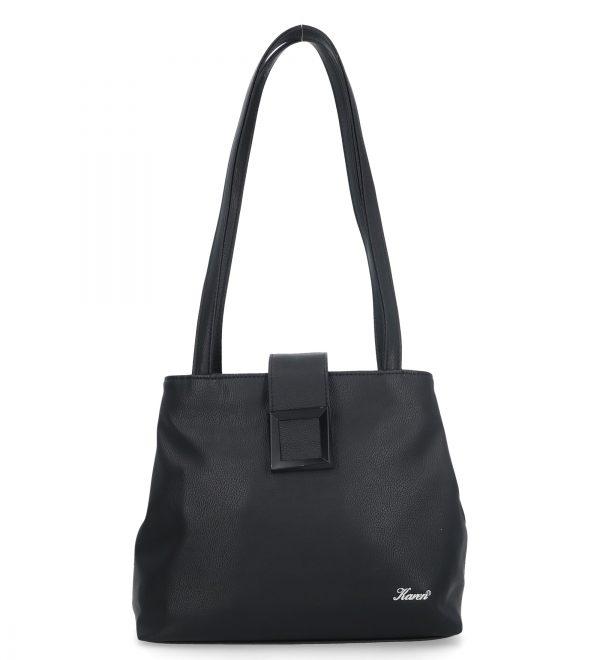 czarna torebka z klamrą karen