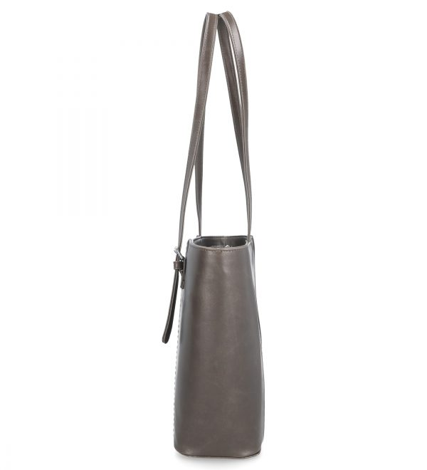 wygodny klasyczny model torebki brązowy