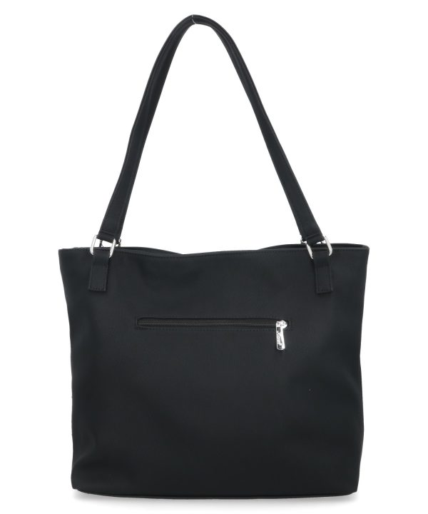 torebka karen na ramię czarna z klapą