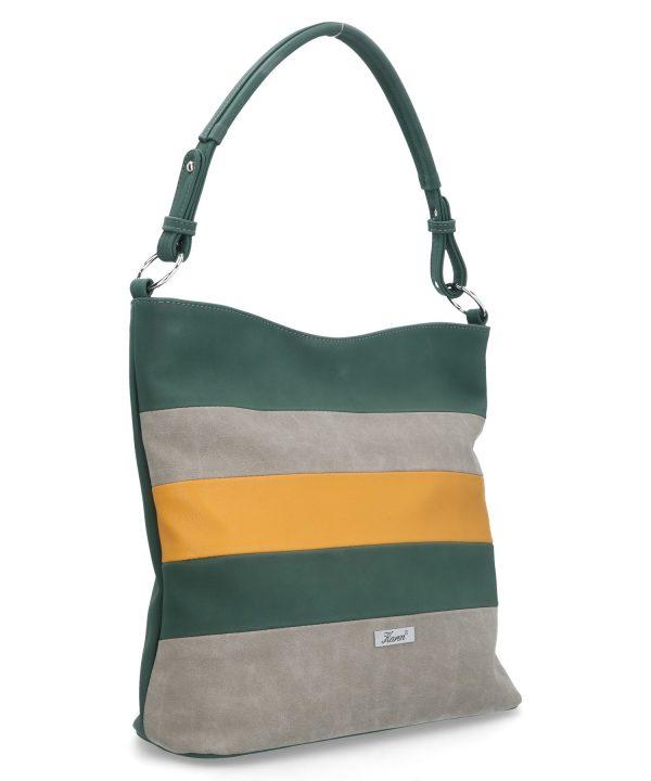 torebka na ramię karen zielona w paski
