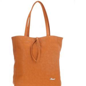 rozłożysta miękka torebka pomarańczowa karen