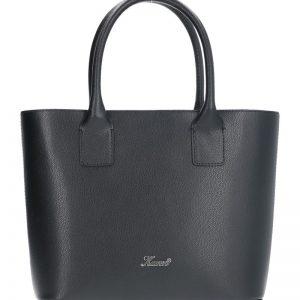 klasyczna torebka skórzana karen czerń ilmenitowa