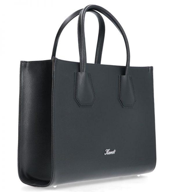 perfekcyjna torebka karen skórzana czarna