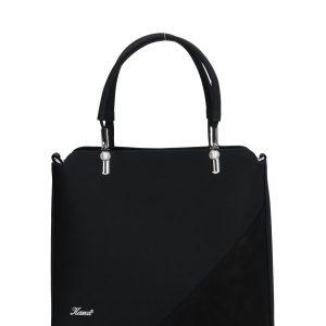torebka czarna z biżuteryjnymi dodatkami karen