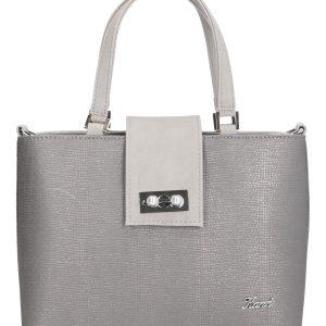 torebka mija z klapą srebrna karen