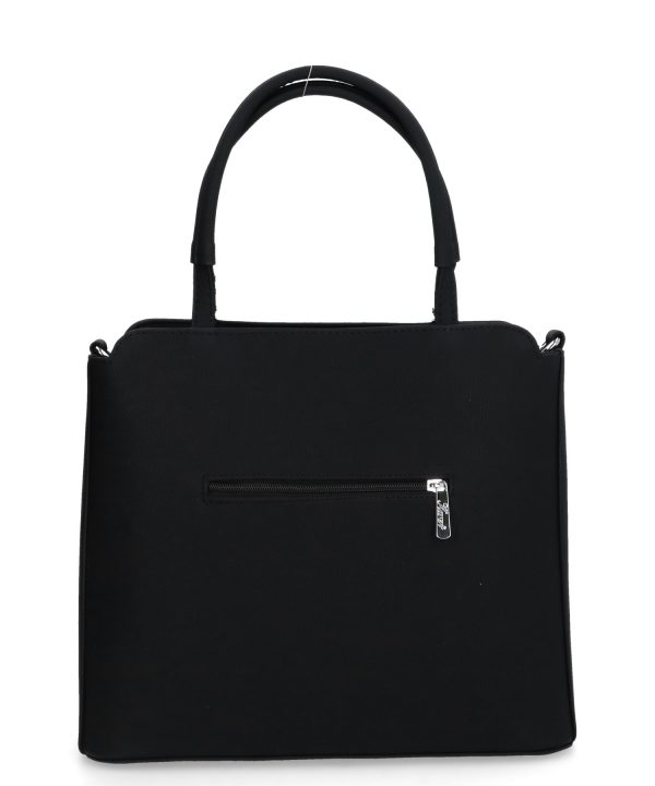 usztywniana torebka karen czarna